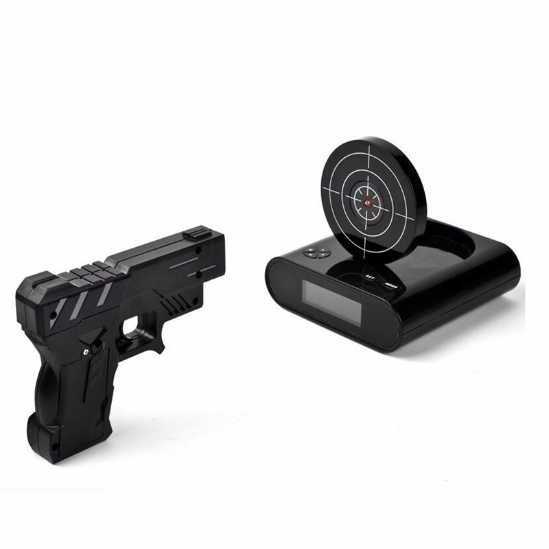 lock and load target gun alarm clock instructions