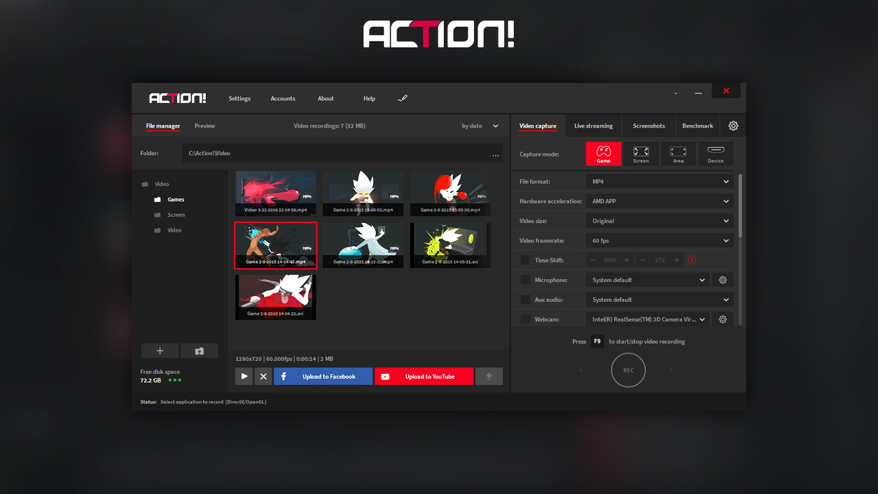 record you screen actions for video instruction
