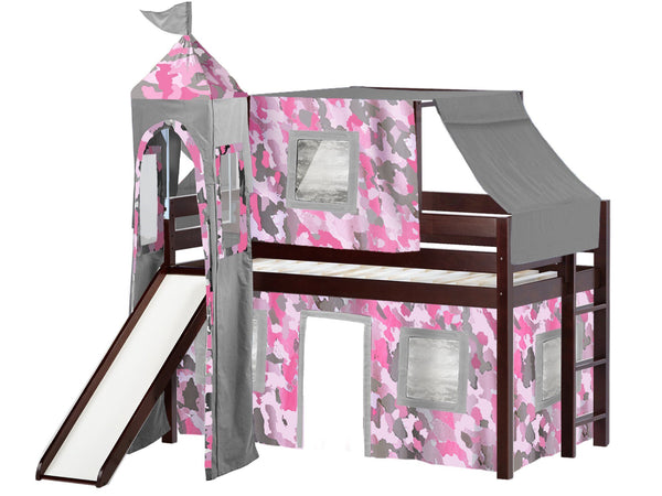 twin loft bed with slide instructions