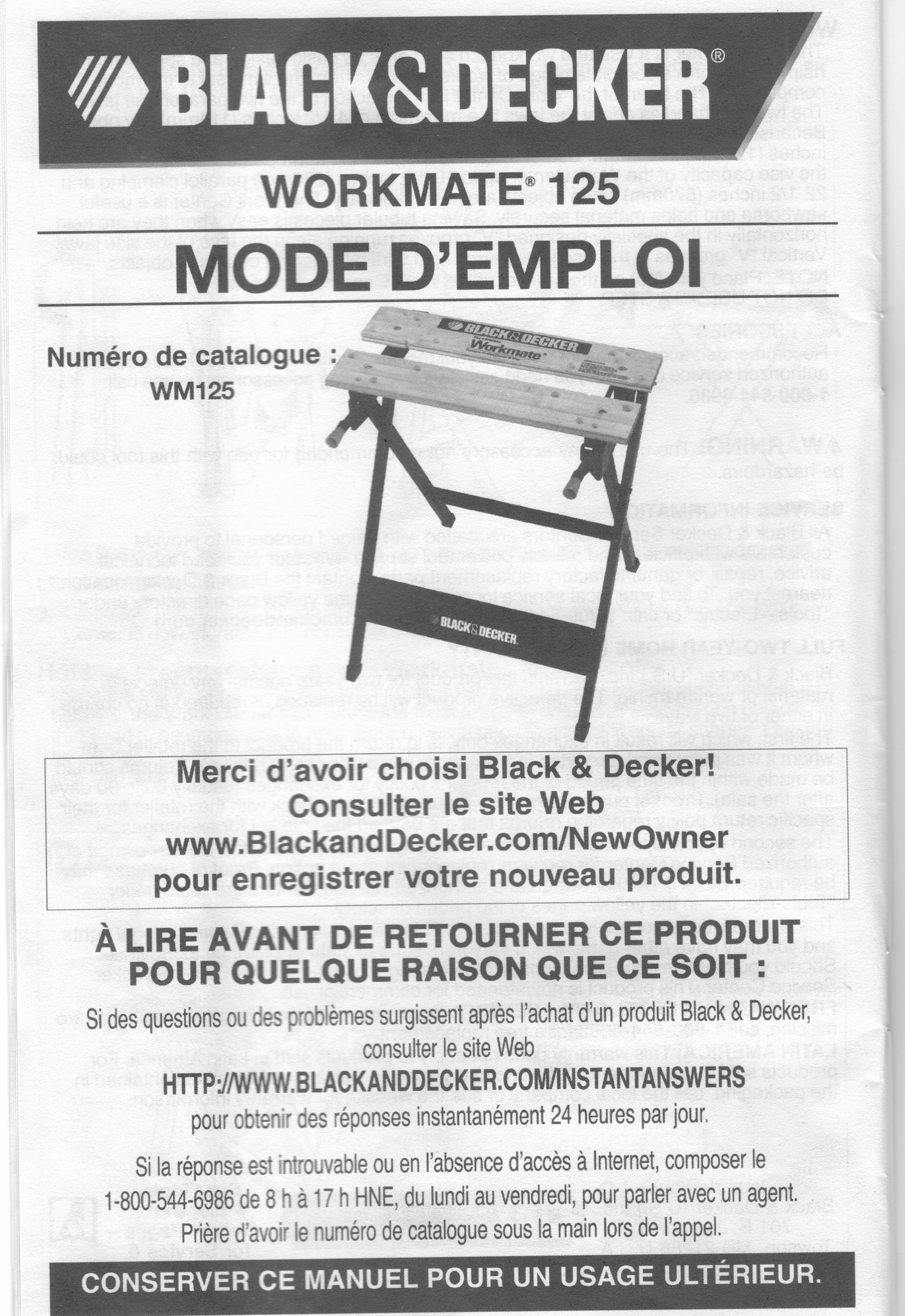 workmate wm825 assembly instructions